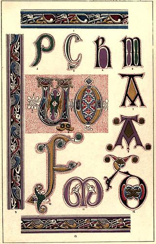 02- Siglo VII- Motivos tomados del Manuscrito Durham