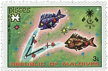 Maldive-Islands Pisces Stamp