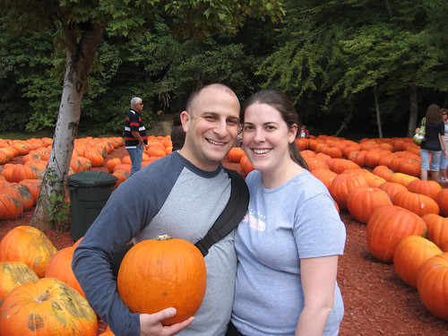 me and joe at the pumpkin patch