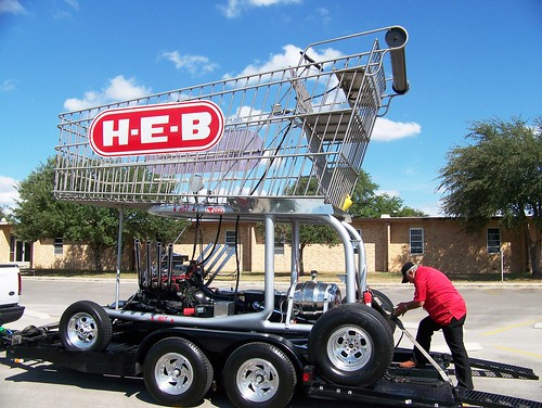 HEB cart on wheels