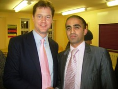 Nick Clegg MP with Mohammed Shafiq by shafiqjcp