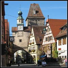 One of several towers  - Rothenburg ob der Tauber, Bavaria Germany (Batikart... off !!!) Tags: city travel autumn vacation people house flower building fall window architecture canon germany square geotagged bayern deutschland bavaria town interestingness reisen holidays europa europe cityscape leute village urlaub herbst haus medieval historic explore stadt architektur 2008 altstadt oldtown fp frontpage vacanze halftimbered 2007 citywall middleage a610 fachwerk rothenburgobdertauber huser stadtmauer mensch ansbach historisch mittelfranken mittelalter walledtown townwall tauber canonpowershota610 romanticroad romantischestrasse wehrgang 100faves markusturm i500 explorefrontpage 200faves viewonblack middlefranconia colorphotoaward holidaysvacanzeurlaub batikart rderbogen stadtgetty2010
