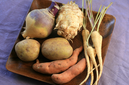 Rutabaga, potatoes, parsnips, and celeric