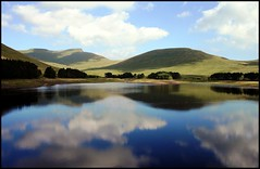 Pen Y Fan in relfection (The Groovster) Tags: summer lake reflection wales clouds shadows breconbeacons penyfan cornddu cribyn welshflickrcymru thegroovster upperneuaddreservoir