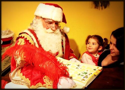 M'zelle Soleil rencontre le Père Noël