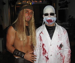 The Dentist in Disguise (Rooztography) Tags: costume dentist 2008 pinhead hallowee hellraiser cenobite chatterer