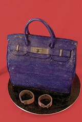 Another handbag cake (The Ladygloom) Tags: cake bag purple sparkle hermes handbag birkin theladygloom designercakes