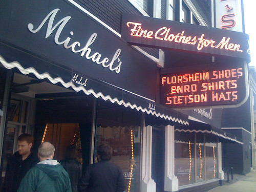 front facade of Michael's Fine Clothes For Men
