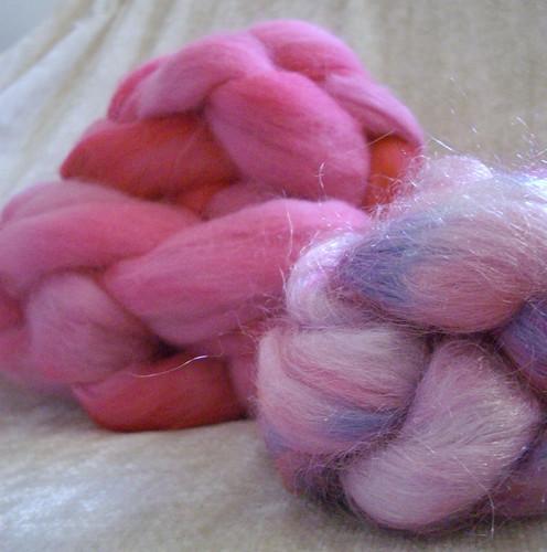 Handdyed fiber