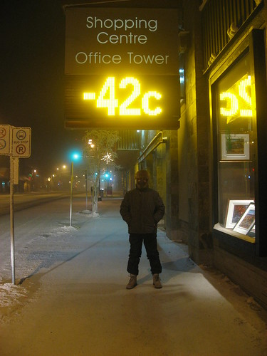 -42C in Yellowknife, Canada