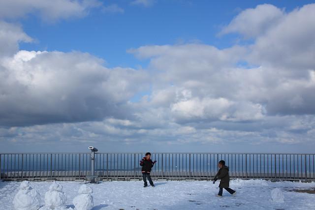 山頂の積雪