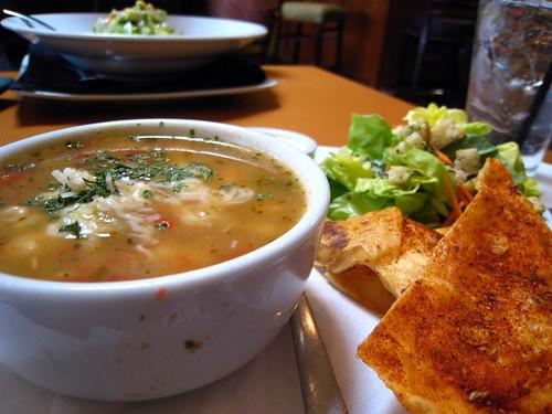 Husbear got the soup and salad