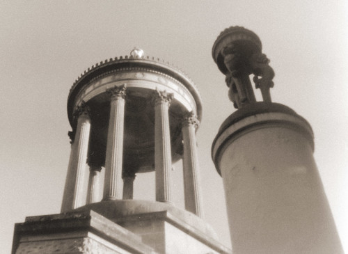 Alloway Burns monument, pinhole with converted Agfa Clack