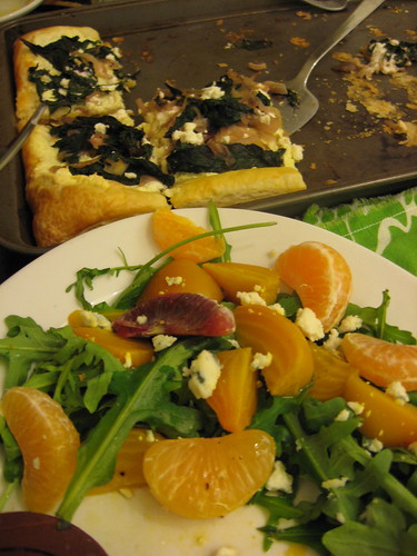 Citrus Salad and Swiss Chard Tart