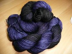 merino blue purple with black