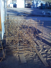 rebar porch steps