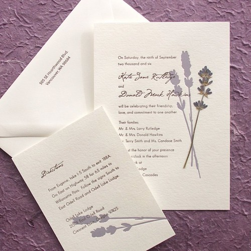 English Lavender Wedding Invitations