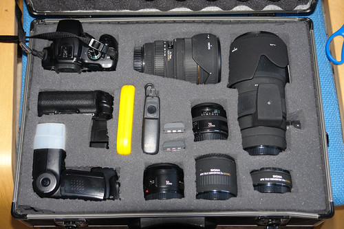 My Main SLR Case (Canon 400D and Lenses etc)