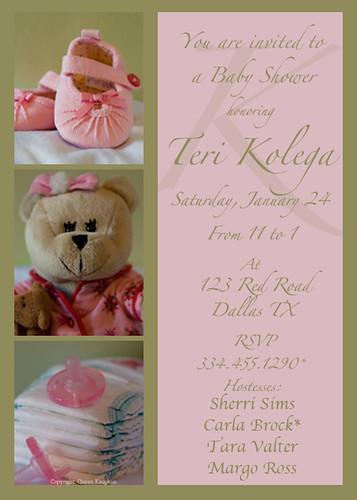 Baby Girl Shower Invite
