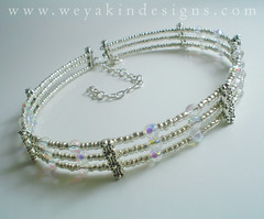Silver & Crystal Choker (weyakin) Tags: silver necklace beads crystal handmade crafts etsy faerie choker memorywire
