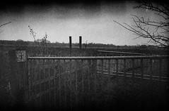 XA2: Private (fwumpbungle (broomephoto)) Tags: blackandwhite film monochrome 35mm private gate delta olympus xa2 iso 400 ilford keepout