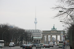 The Streets of Berlin (colonelchi) Tags: road street berlin tower film statue festival radio buildings germany europe landmark victory tor filmfestival gage radiotower berlinale berlinfilmfestival brandenbergtor underdenlinden
