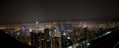 Hong Kong_Peak_Night_panorama