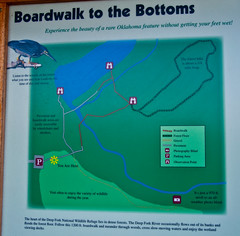 Map of Deep Fork Cussetah Bottoms Boardwalk Trail (Schulter, Oklahoma, United States) Photo