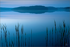 tranquility (Sandra Bartocha) Tags: blue mist lake reflection nature water germany relax deutschland dawn twilight scenery peaceful tranquility romantic serene dmmerung relaxation spiegelung wwe mv mecklenburg mecklenburgvorpommern ruhe zwielicht mecklenburgwesternpommerania mritznationalpark theunforgettablepictures frstensee wildwondersofeurope csandrabartocha wwwbartochaphotographycom