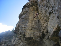 Barry Stemming on Centerfold (5.10a)