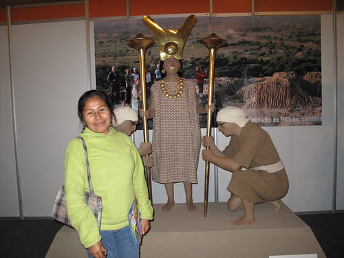 My friend from the orphanage, Yolanda, at a tourism exhibition.