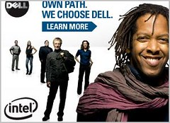 Warren Brown in the Dell ad