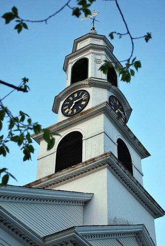 Chesire Congregational Church Clock & Steeple