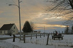 Golden Gables (Tomitheos) Tags: winter sunset ontario canada rural fence island nikon flickr driving forsale daily february now today 2008 ruraldecay uxbridge stockphotography winterscene 102mp imagekind citrit tomitheos ysplix goldengables elitepool