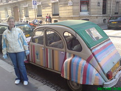 Michelle and Gregor's Fourth trip to Paris Nov 2006 (gregormcmillan) Tags: paris car rainbow bettle colourfull