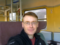 Graham on Train to Vienna