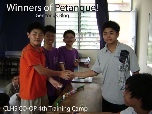 Petanque Winners