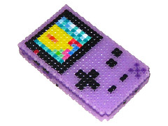 Atomic Purple Gameboy Color 3D Bead Sprite (Doctor Octoroc) Tags: nintendo videogames gameboy gameboycolor hamabeads perlerbeads beadsprite doctoroctoroc