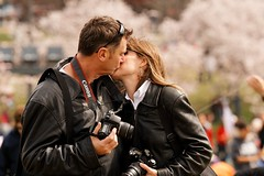 Love in the Time of Flickr (avirus) Tags: pink kite love festival canon cherry washingtondc spring nikon kiss flickr photographer blossom bokeh nationalmall romantic washingtonmonument 70200lis