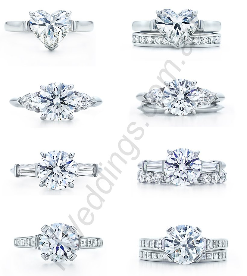 iLoveThese Tiffany  Co. engagement rings and matching wedding bands