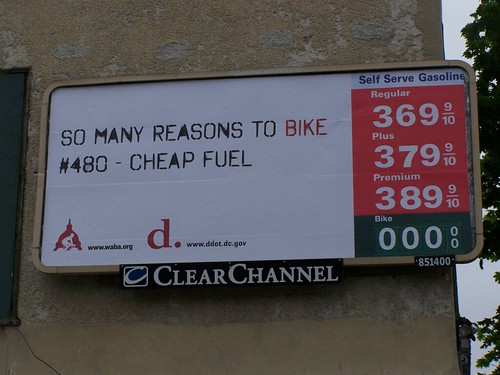 DC DDOT bicycling billboard