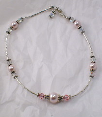 Sterling, Swarovski, ANKLET (Maria White Designs) Tags: handcrafted sterling swarovskicrystals swarovskipearls