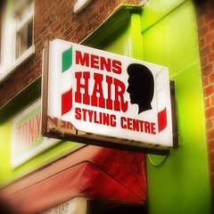 Tony's (hauntedmansion) Tags: london sign soho barber hairdressers stephenmay