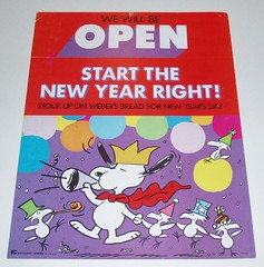 Peanuts New Years sign