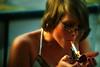 Smoking makes her look mature.