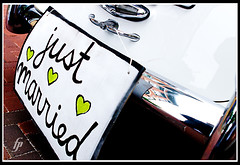 Just Married (fensterbme) Tags: wedding sign interestingness limo justmarried 30d 2470mm canon2470mm interestingne
