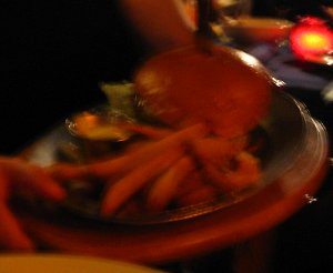 Redwood Cheeseburger (close-up)