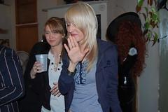 cheap vodka (Deadbeatdavid) Tags: portrait people dog water laughing hair redhead blonde smirk pomeranian bandages