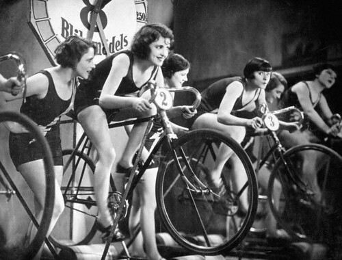 Women on Bicycles --- Image by © John Springer Collection/CORBIS