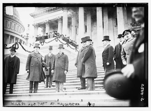 Wilson and Taft at Inauguration (LOC)